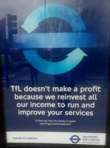 TfL ad copywriting example