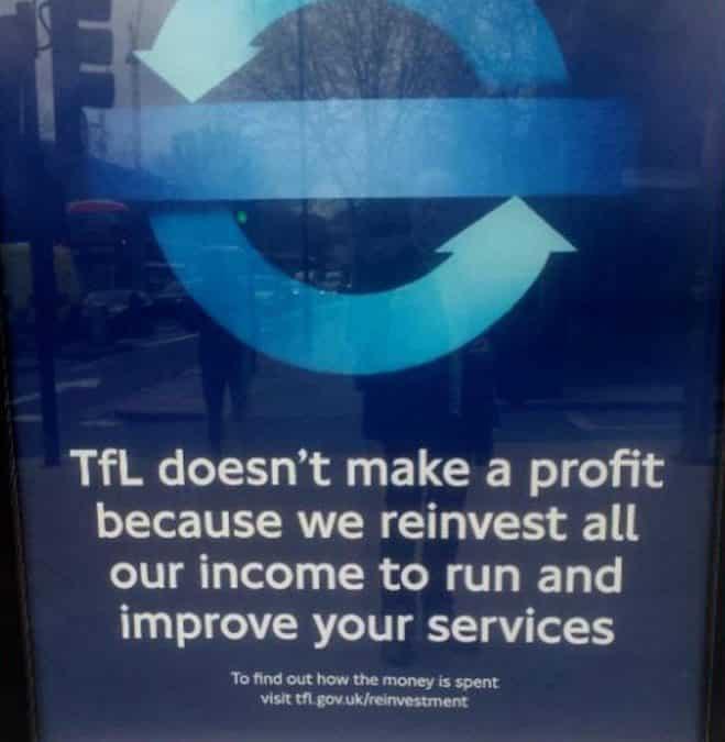 TfL ad copywriting example
