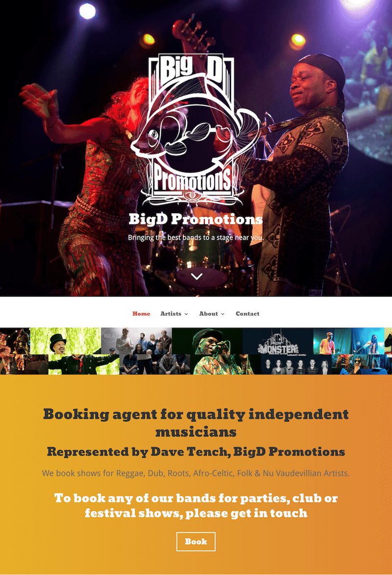 Big D Promotions Homepage Screenshot